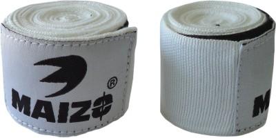 Maizo Stretchable 180 Inch Hand Wraps White Boxing Gloves (L, White)