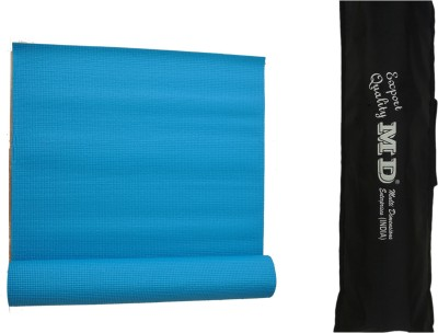 MD Yoga Mat ( 6 MM ) with Cover for Exercise & Gym Sky Blue 6 mm
