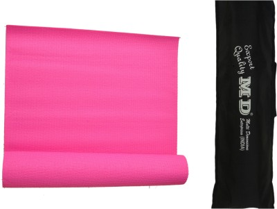 MD Yoga Mat ( 6 MM ) with Cover for Exercise & Gym Pink 6 mm
