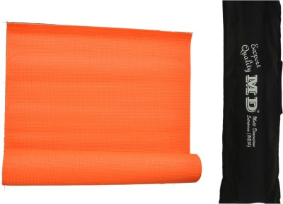MD Yoga Mat ( 6 MM ) with Cover for Exercise & Gym Orange 6 mm