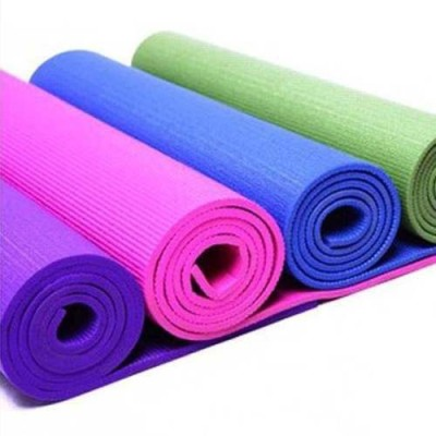 Livestrong 4 mm YOGA MAT for fitness exercise, anti skid, washable & light weight Yoga Multicolor 0.36 mm