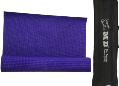 MD Md Yoga Mat (7mm) With Cover Yoga Blue 7 mm
