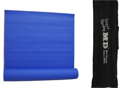 MD Yoga Mat ( 6 MM ) with Cover for Exercise & Gym Blue 6 mm