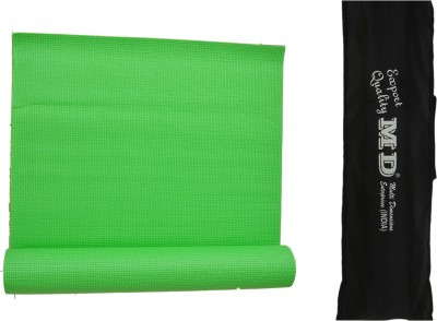 MD Yoga Mat ( 6 MM ) with Cover for Exercise & Gym Green 6 mm