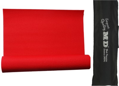 MD Md Yoga Mat (7mm) With Cover Yoga Red 7 mm