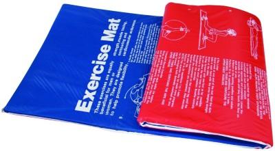 Tunturi Aerobic Fitness Mat with Pri Red, Blue 2.5 mm Exercise & Gym Mat