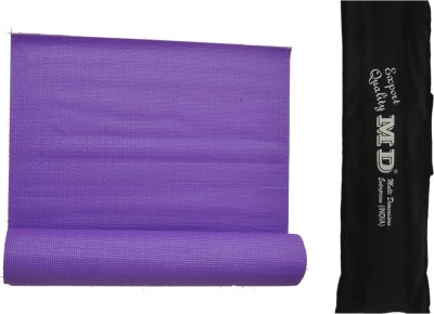 MD Yoga Mat ( 6 MM ) with Cover for Exercise & Gym Purple 6 mm