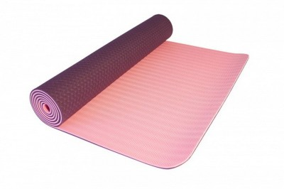 Neo Gold Leaf Eco Friendlt Tpe Yogamat 02 Yoga Gray, lightpink 6 mm