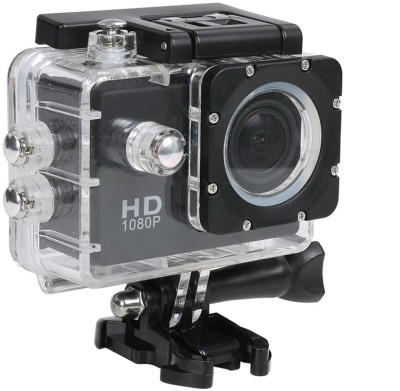 FLIPFIT POWERSHOT Go Pro 1080P Waterproof Digital With accessories with led screen(memory card ) Sports and Action Camera(Black 12 MP)
