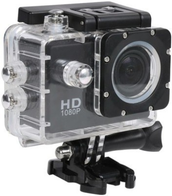 Benison India Powershot Go Pro 1080P Full HD Waterproof Digital with led screen Sports and Action Camera(Black 12 MP)