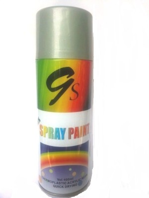 GS BRIGHT SILVER Spray Paint 400 ml(Pack of 1)