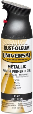 Rust-Oleum Flat Metallic Spray Paint Modified Alkyd Bottle