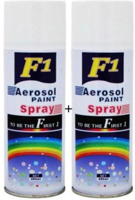 F1 WHITE & WHITE Spray Paint 450 ml