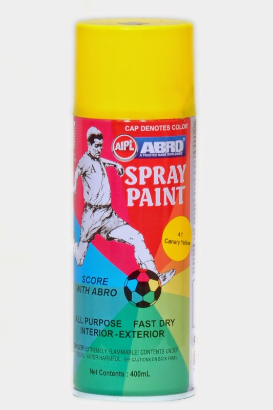 Abro Premium 41 Canary Yellow Spray Paint 400 ml(Pack of 1)