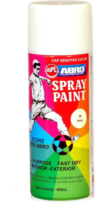 Abro Premium Ivory Spray Paint 400 ml(Pack of 1)