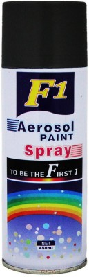 F1 Black Spray Paint 450 ml(Pack of 1)