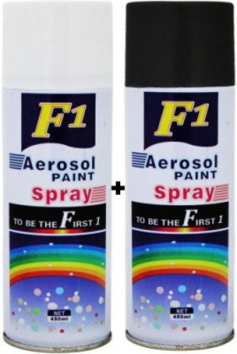 F1 White & Black Spray Paint 450 ml