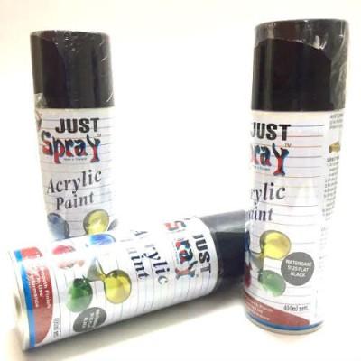 KUBER STORES Waterbase Flat Black 9125 Spray Paint 400 ml