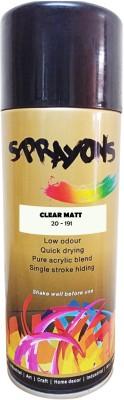 Sprayons Clear Matt Spray Paint 400 ml