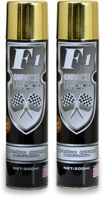 F1 PREMIUM BRIGHT GOLD Spray Paint 300 ml(Pack of 2)