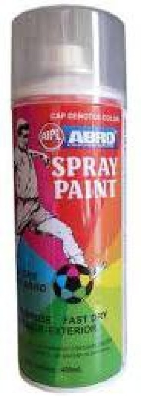 Abro Premium Glossy White Spray Paint 400 ml(Pack of 1)