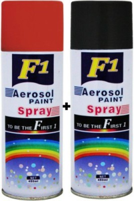 F1 Black & Red Spray Paint 450 ml