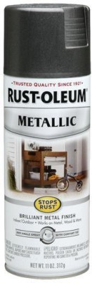 Rust-Oleum Stops Rust Metallic Charcoal Spray Paint 312 ml