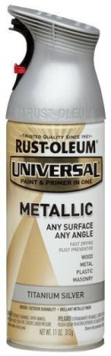 Rust-Oleum Universal Titanium Silver Spray Paint 312 ml