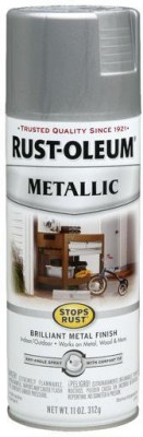 Rust-Oleum Stops Rust Metallic Silver Spray Paint 312 ml