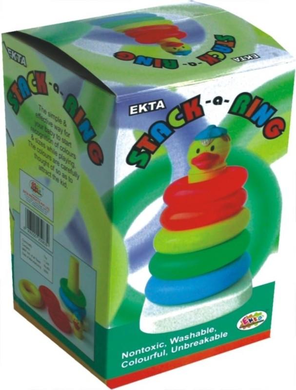 Ekta Stack A Ring Jr PreSchool Game(Multicolor)