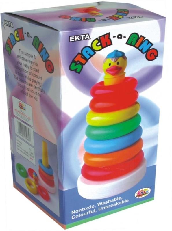 Ekta Stack A Ring Sr. PreSchool Game(Multicolor)