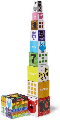 Melissa & Doug Nesting Blocks - Numbers, Shapes, Colors