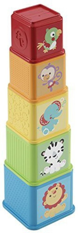 Fisher-Price Stack and Explore Blocks(Multicolor)