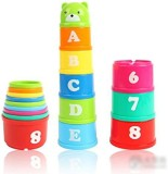 Tinksky Set of Stacking Cups Non-Toxic D...