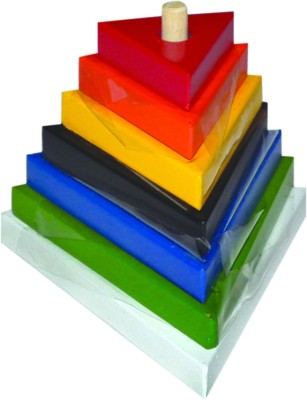 Kinder Creative Triangle Tower in Grading Shapes