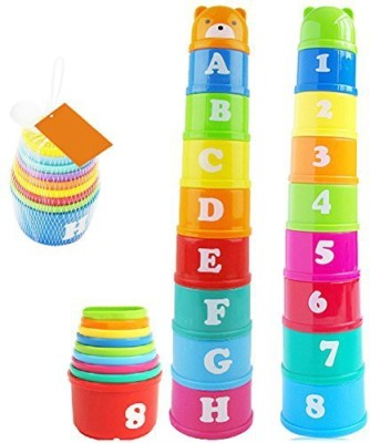 VidaToy Brilliant Colorful Stacking & Nesting Cups Fun building beakers For Kids(Multicolor)
