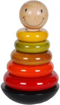 MNC Wooden Smile Ring Set for Stacking & Counting