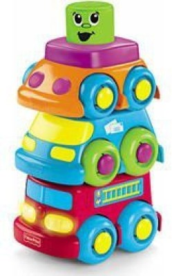 Fisher-Price Brilliant Basics Shake & Stack Tractor(Multicolor)