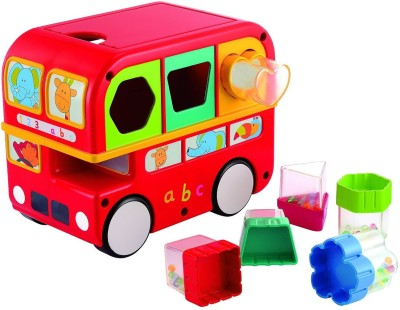Funskool Giggles Shape Sorting Bus, Red