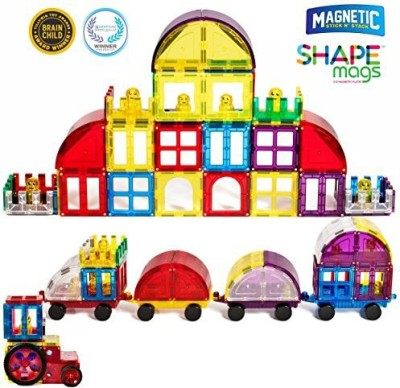 Magnetic Stick N Stack Award Winning Magnetic Stick N Stack Accessory set Including Doors, Windows, Gates, Cars & train connectors ,Figures, Arches, and much more.