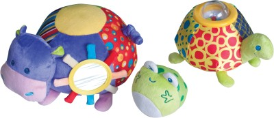 Parkfield Premium Developmental Baby Learning Toy -Soft Stacking Animal with Vibrator,Chime Frog recorded Sound ,Crinkle and Chimes