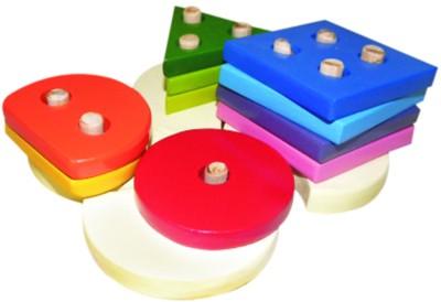 Kinder Creative Wooden Height Shapes Color Arranging Board