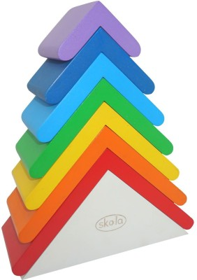 Skola Rainbow Roofs: Stack, Nest & Construct(Multicolor)