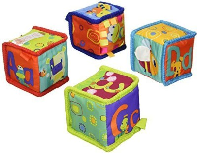 Bright Starts Grab and Stack Blocks(Multicolor)