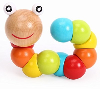 Merry Wooden Baby Building and Stacking Toy,colours