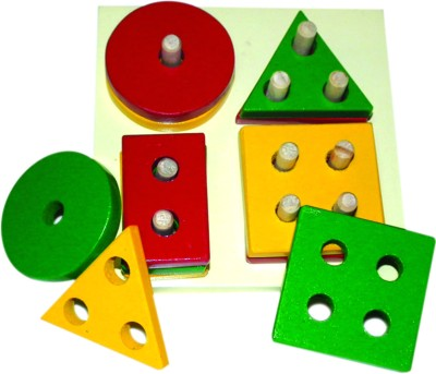 Kinder Creative Shapes and Colors Stacking Board