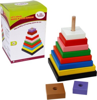 Eduedge Let's Solve - Grade N Stack Square(Multicolor)