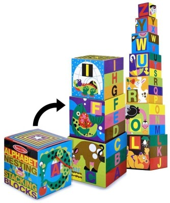 Melissa & Doug Alphabet Nesting Stacking Blocks