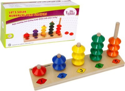 Eduedge Let's Solve - Numerical Bead Stackers(Multicolor)