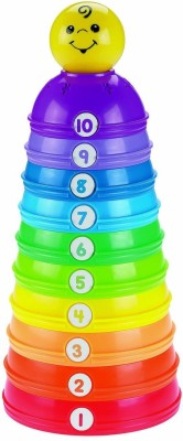 Fisher-Price Stack & Roll Cups Toy(Multicolor)